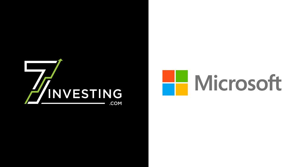 7investing logo next to the Microsoft logo.