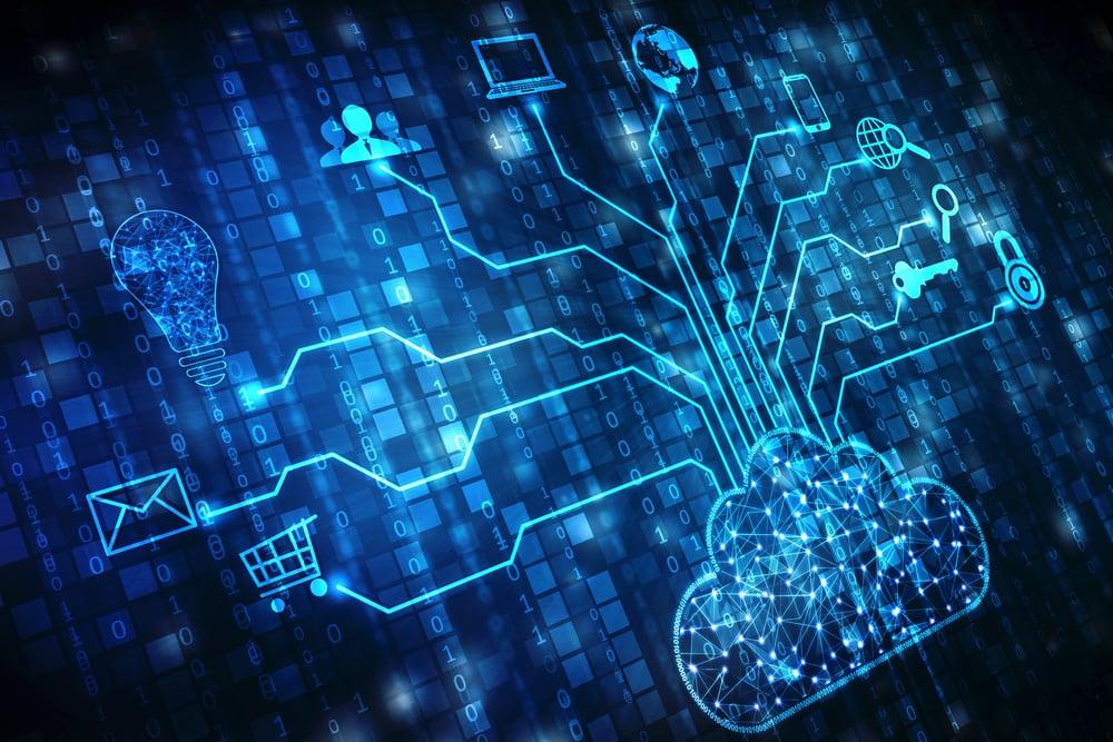 Cloud computing digital display/tree
