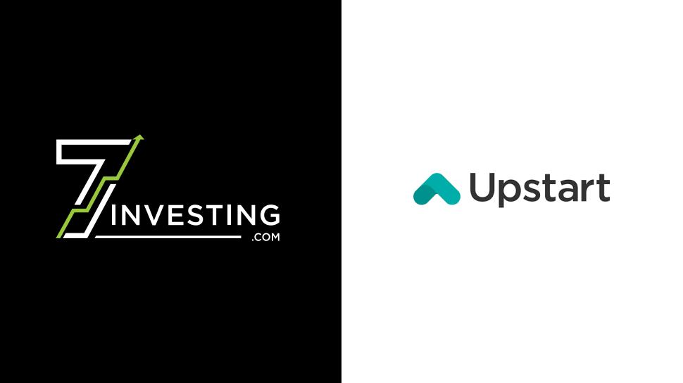 7investing logo next to the Upstart logo.
