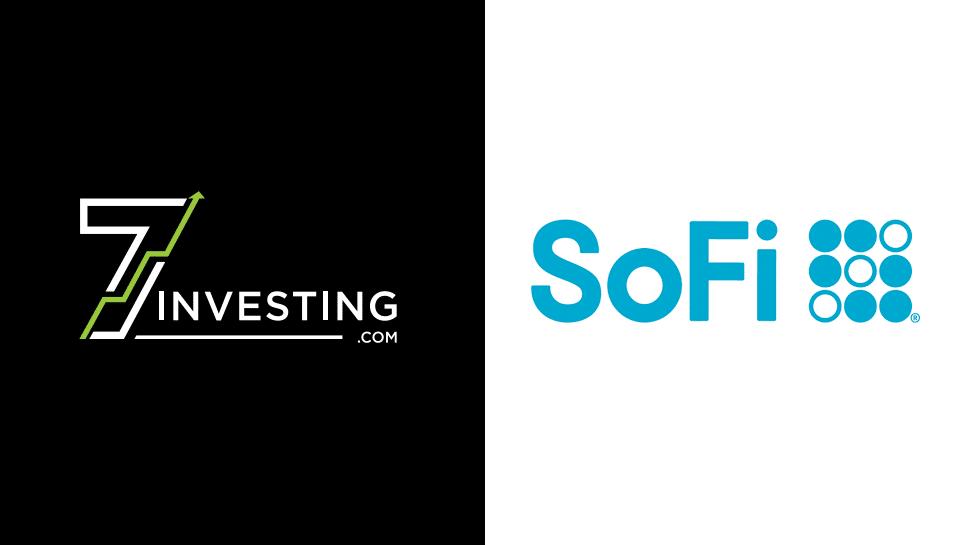 7investing logo next to the SoFi Technologies logo.