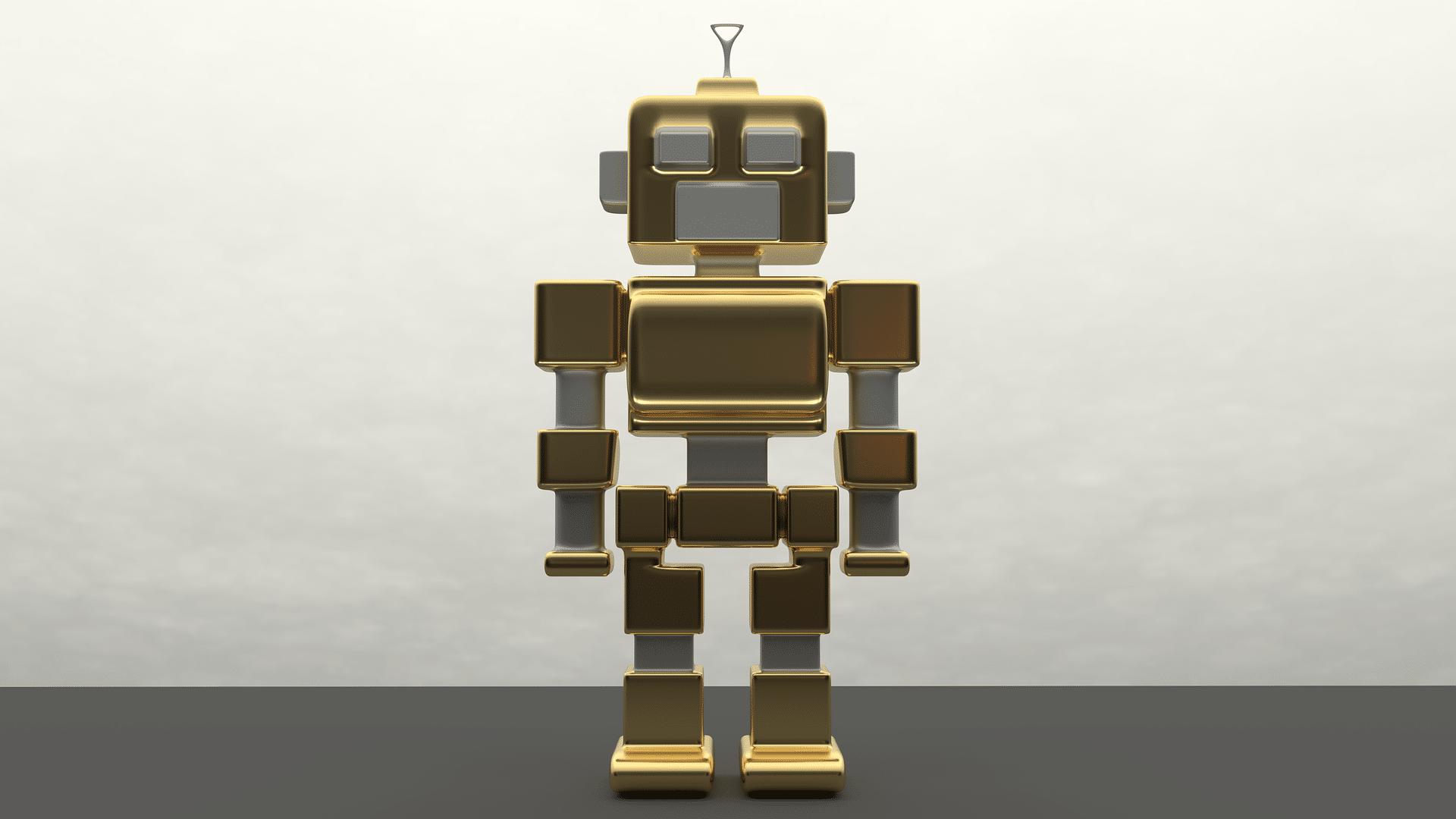 A gold robot